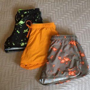 Nike 3 running shorts bundle, size Small